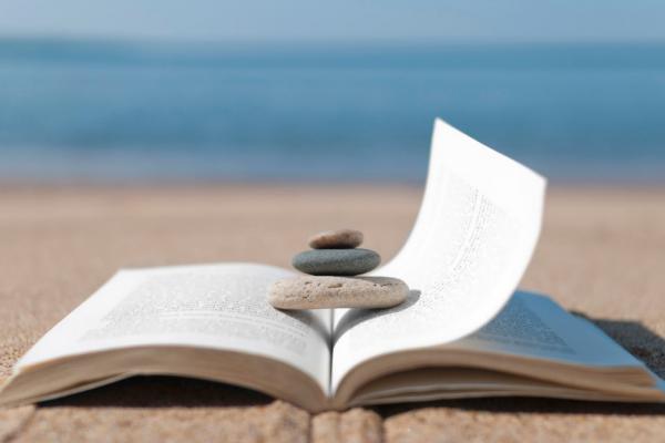 book-beach-relax-calm